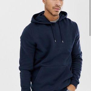 Blue basic hoodie